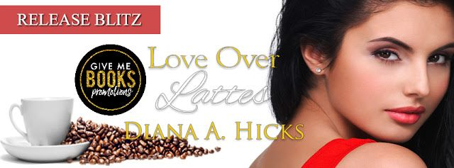 Love Over Lattes by Diana A. Hicks   Title: Love Over Lattes Series: Desert Monsoon #1 Author: Diana A. Hicks  Publisher: Wild Rose Press Genre: Contemporary Romance  Release Date: February 7 2018  Blurb  Single mom Valentina wants to provide a good life for her son starting with the perfect home. When the deal on her dream house falls through rather than move back in with her parents and disappoint them and her son once again she accepts the help of the intimidating-as-hell stranger shes…