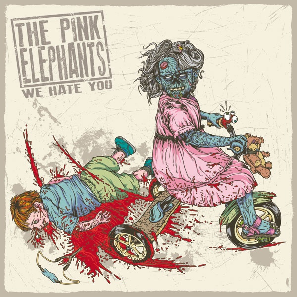 Marcos Cabrera » The Pink Elephants – We Hate You album artwork
