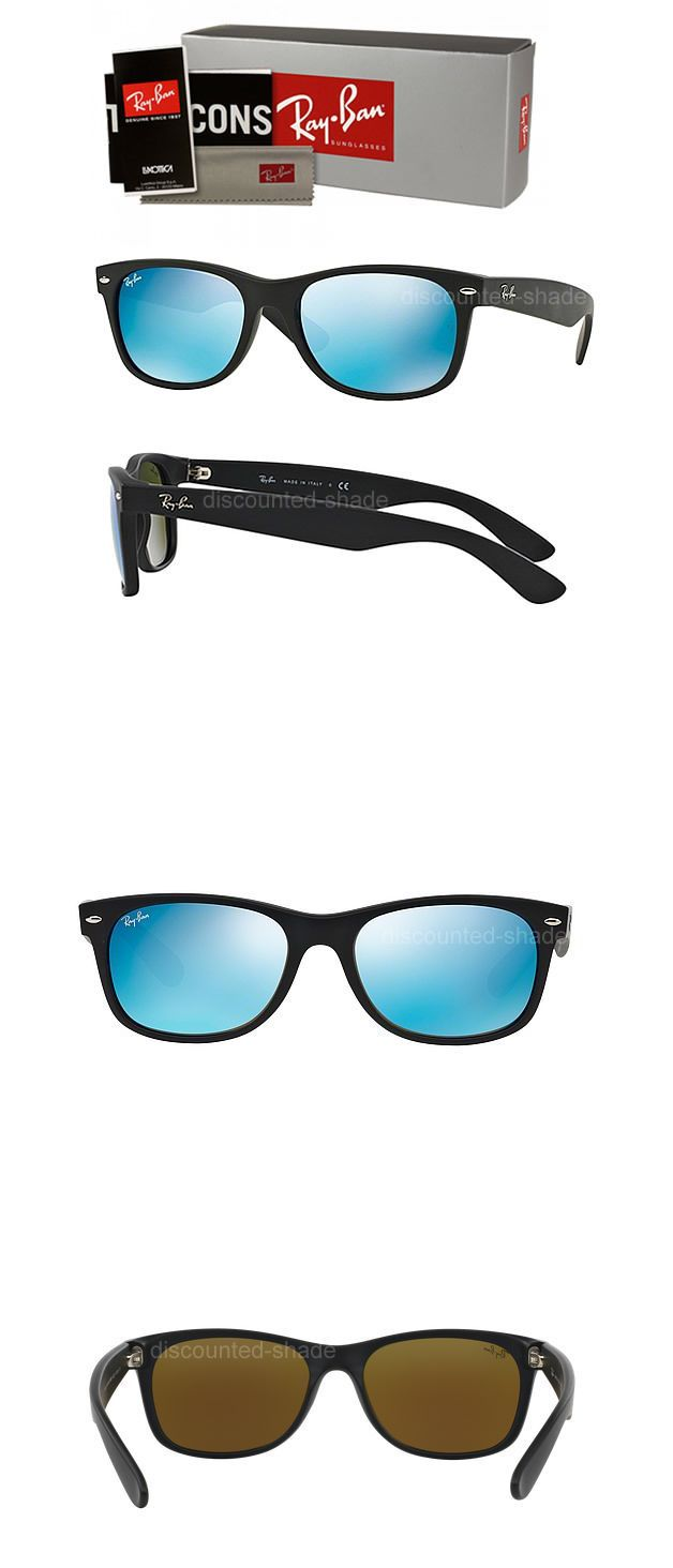 58291602f39c0 Other Vision Care  Ray Ban New Wayfarer Rubber Black W Blue Mirror Flash  Lens Rb2132