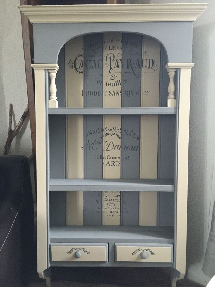 Solid Pine Shabby-Chic/French-Rustic Wall Unit, Annie Sloan Chalk Paint, Upcyled | eBay