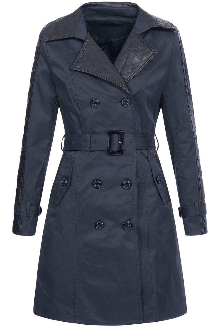 Peak Time Damen Übergangs-Jacke Mantel Trenchcoat TR14007: Amazon.de: Bekleidung