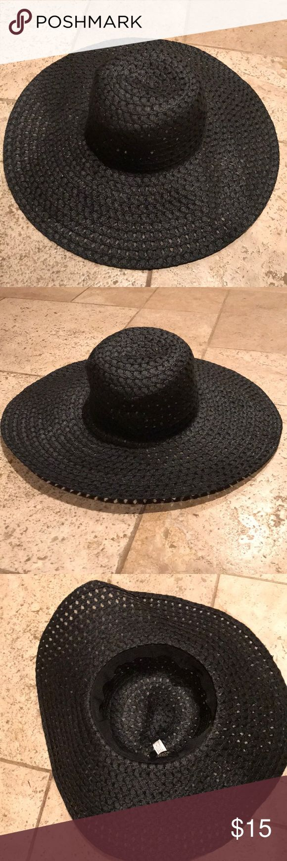 Nearly New! Magic Hat Black Floppy Hat. Used, Worn Once. Great Condition. Derby Hat/Summer Hat. Big Floppy Paper Straw Hat. Color: Black. Magid Hats Accessories Hats