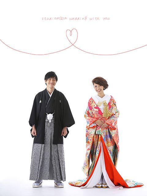 和装スタジオ写真   結婚写真 和装前撮り フォトウエディングなら東京の写真館 スタジオAQUA浅草店