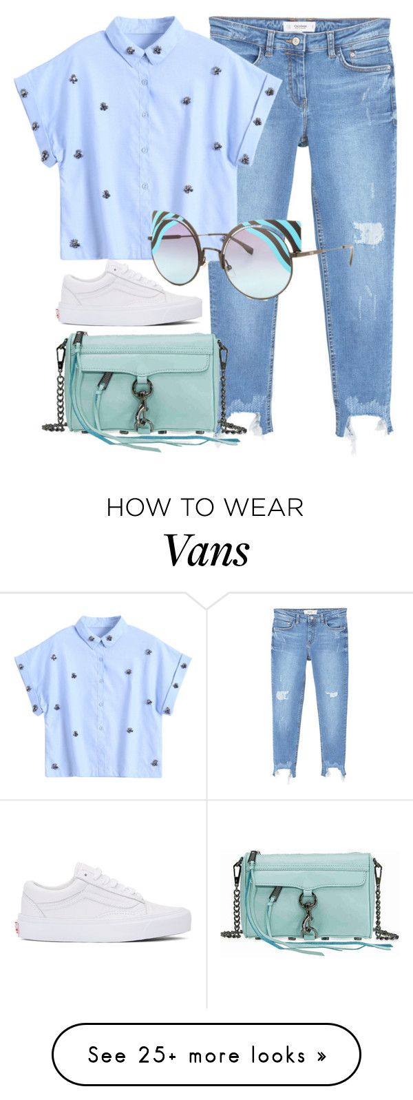 """Imagine"" by smartbuyglasses on Polyvore featuring Vans, MANGO, Fendi, Rebecca Minkoff, Blue and fendi"