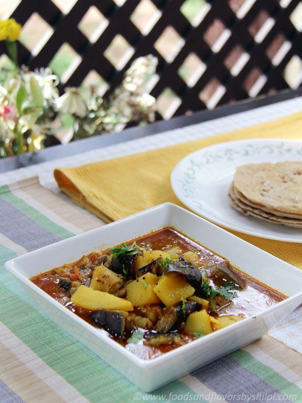 kitchen boss eggplant caponata%0A Aloo Biangan Curry In Tomato Gravy