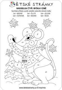 Myška - násobilka 4
