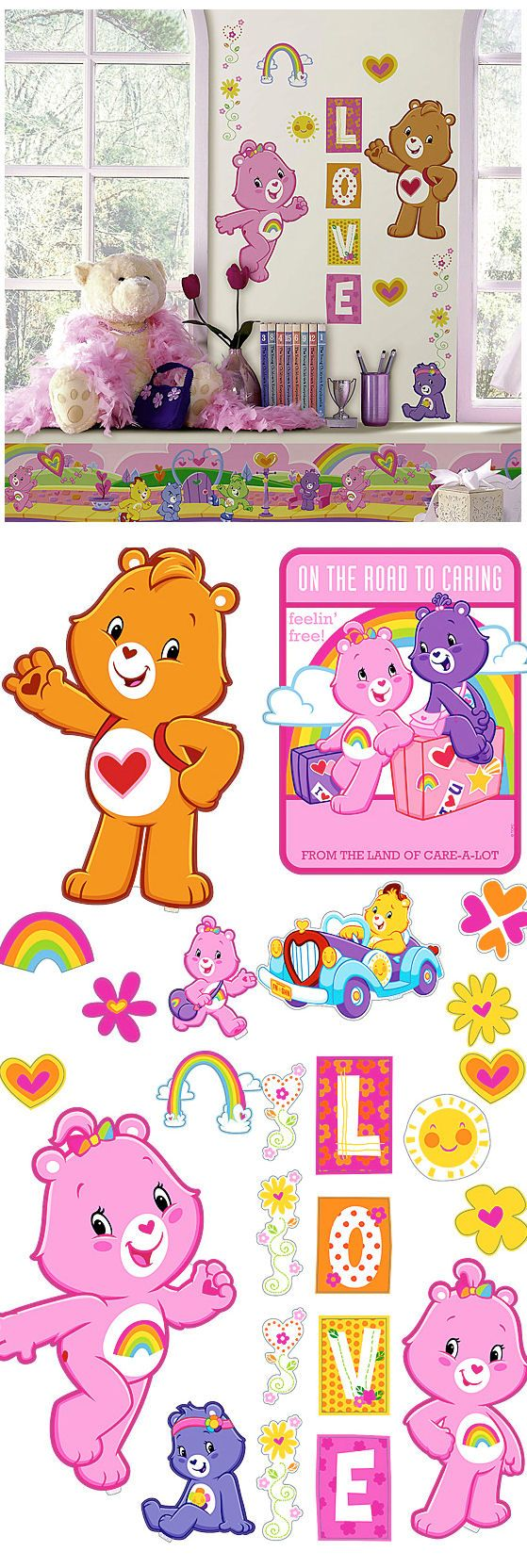 100 best movies and tv wall decals images on pinterest wall care bears peel and stick appliques wall sticker outlet