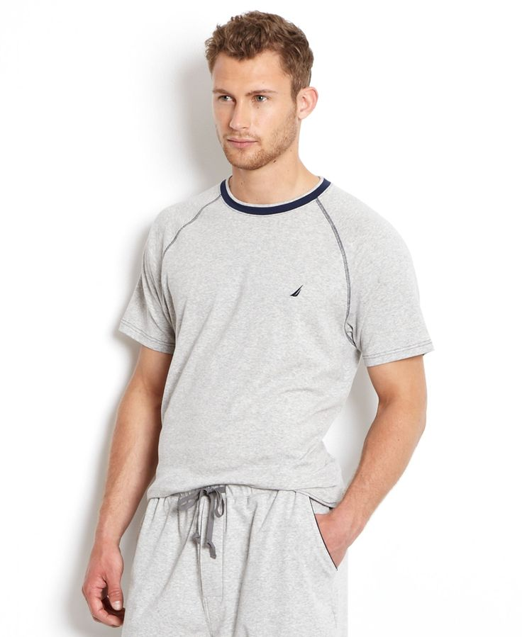 Nautica Men's Loungewear, Anchor Crew Tee