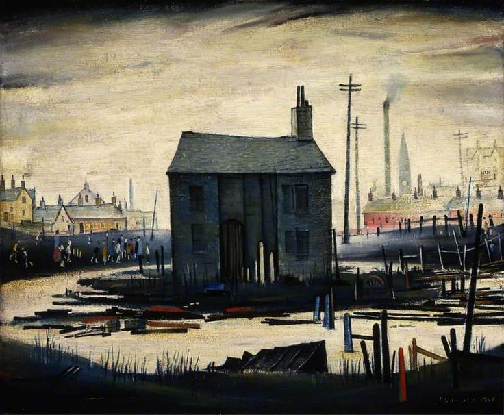 """Northern art: """"Derelict Building""""..Painting by L.S.Lowry, 1941.."""