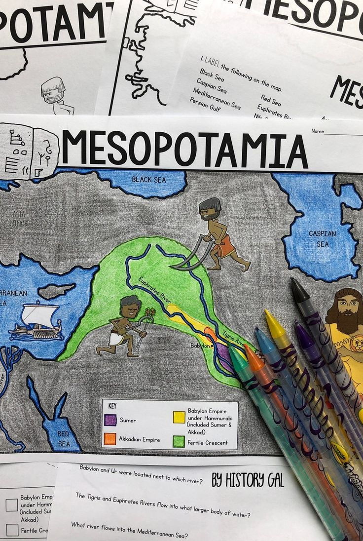 Students Will Label And Color A Map From History Gal To Help Them Visualize The Location Of The Fertile Cres Map Activities Ancient Mesopotamia Map Mesopotamia