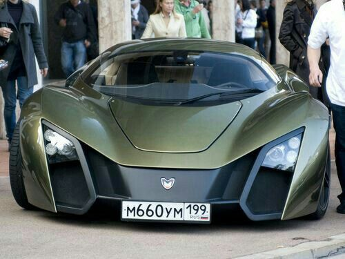 Marussia / Russiau0027s Own Super Car / Beautiful Olive Color / Very Exotic And  Rare