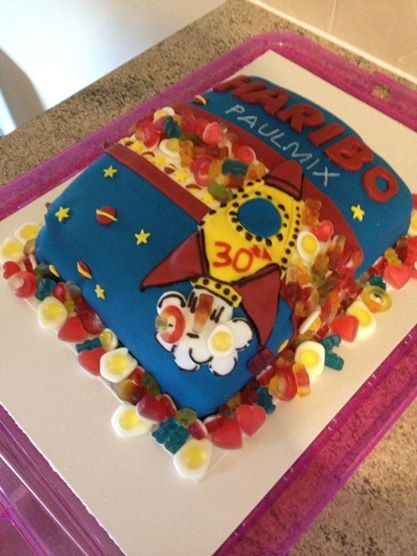 haribo cake made for friends 30th