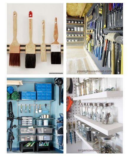 Garage Organization Tools, Garage Organization, Garage Storage, Storage  Ideas, Garage Tool Storage