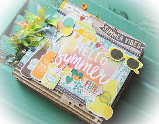 THE STAMPIN PALACE: Xyron and Simple Stories Summer Vibes Album Tutori...