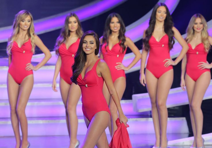 Miss Lebanon 2015 pageant contestants at Casino Du Liban in Jounieh, north of Beirut.