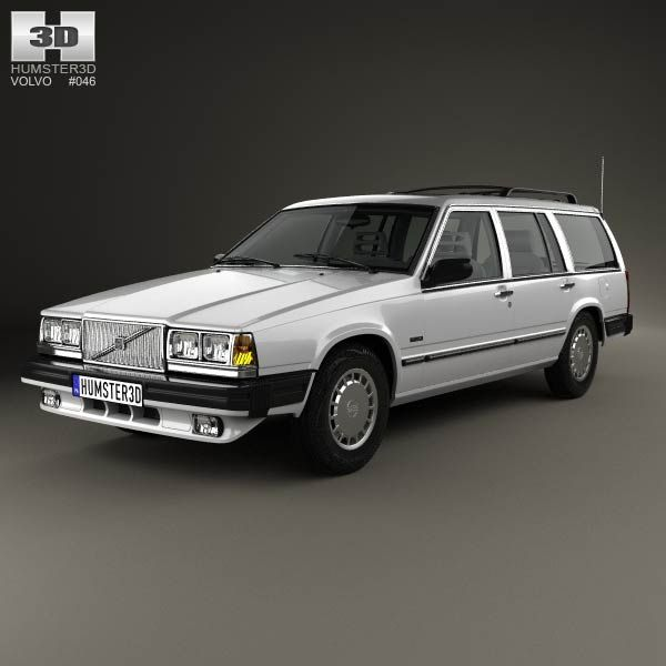 Volvo Pricing: Volvo 745 Kombi 1985 US 3d Model From Humster3d.com. Price