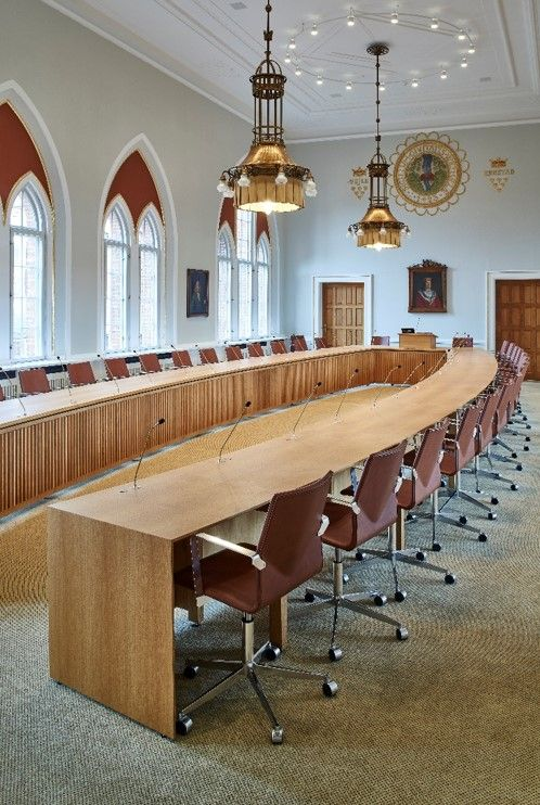 Handmade table to Vejle in Denmark citycouncil. This is made in cooperation with E+N architecture. http://www.kjeldtoft.com/