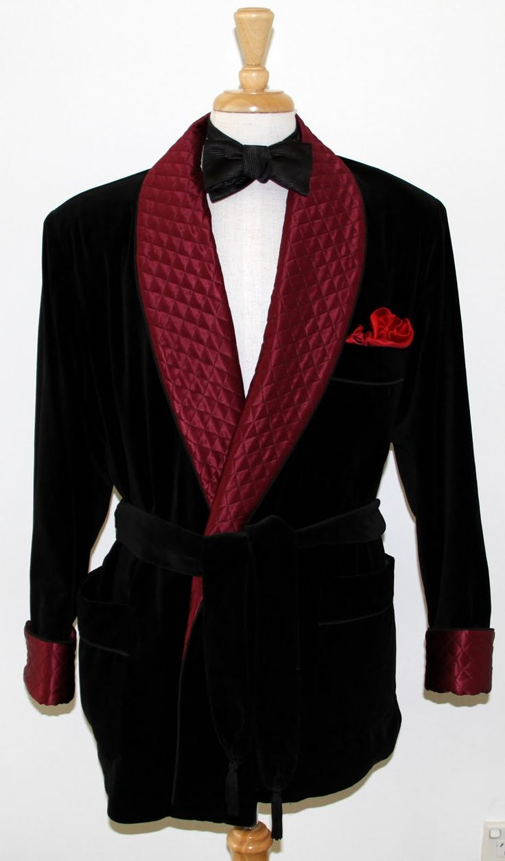 A Guide To Choosing Your Own Smoking Jackets - http://www.lenoeudpapillon.blogspot.com.au/2012/08/smoking-jackets-guide-to-choosing-your.html