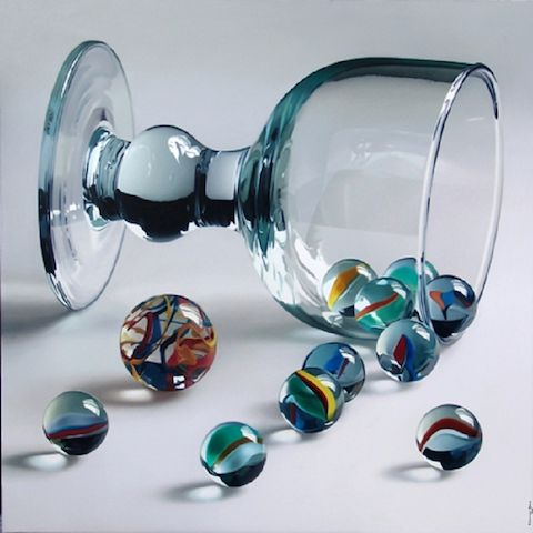 Marbles painting by Pedro Campos