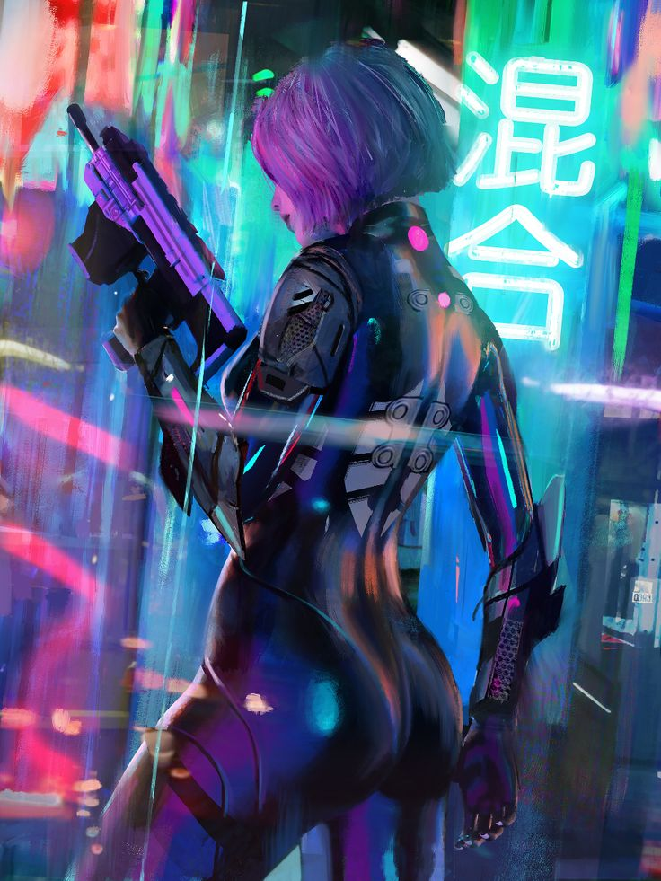 ArtStation Blending, Tony Skeor Cyberpunk aesthetic