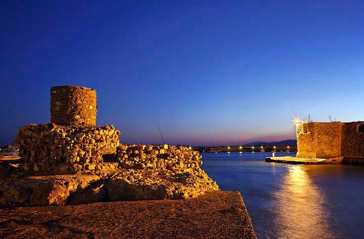 The entrance of the old harbor of Ierapetra, Crete Island, Greece  researched by NEΦEΛH AΓΓEΛΛOY