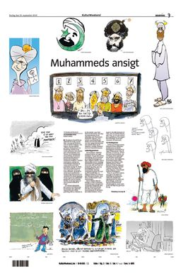 DANISH CARTOON JIHAD STORY: Descriptions of the Jyllands-Posten Muhammad cartoons - Wikipedia, the free encyclopedia