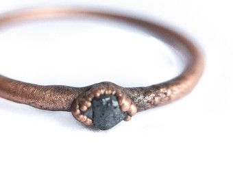 Genuine opal ring  Australian opal jewelry  Rough opal