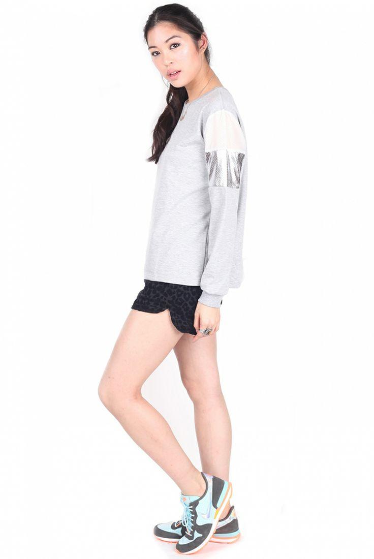 Go sports metallic with this jumper at CAGECITY  www.dresscagecity.com/buy/cagecity/grey-metallic-jumper/0/10/25/680/
