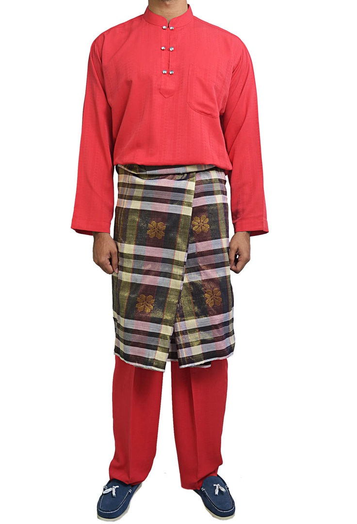 Damas Double Button Baju Melayu In Red L S Solemnization