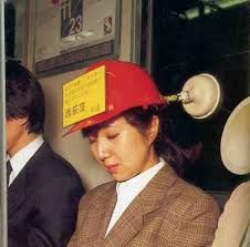 "I guess if you need to take a nap on the train, there is no better idea. I wonder what the sign says ""please wake me up at Tokyo Central"".  #invention #new products #gadgets #innovations #inventions #product design #cad #3d design #inventive #innovative #product development #prototyping #patent #patent help #free invention guidance #free patent help #patent agent #invention marketing"