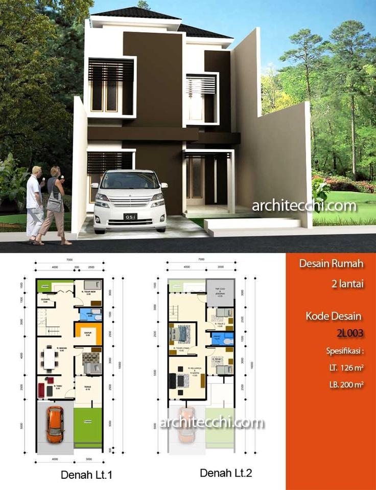 Desain Rumah Minimalis 2 Lantai  Desain Rumah Lebar 7 meter  Desain Rumah 5 kamar tidur  Desain Rumah Type 200