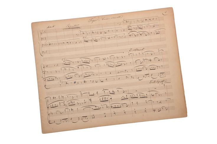 Paul DUKAS (1865-1935). Manuscrit musical autographe, « Fugue ». 1886, 7 pp. In-folio à l'italienne, encre noire. Sold on www.apollium.fr
