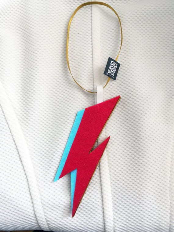 Ziggy Stardust Hanging Christmas Tree Decoration by SHERWOODMADEUK