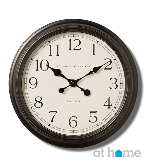 This more traditional clock with darker finishes makes a great accent piece. #athomefinds