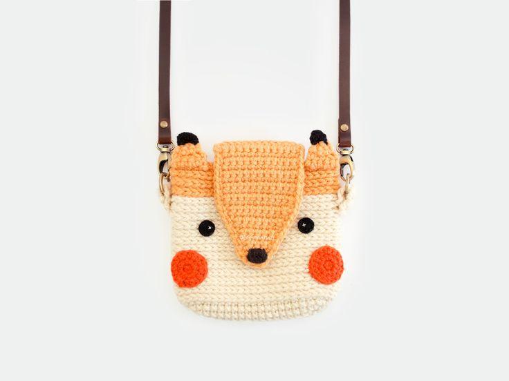 Crochet Cute Fox Case for Fuji Instax Mini 25,90 by meemanan on Etsy