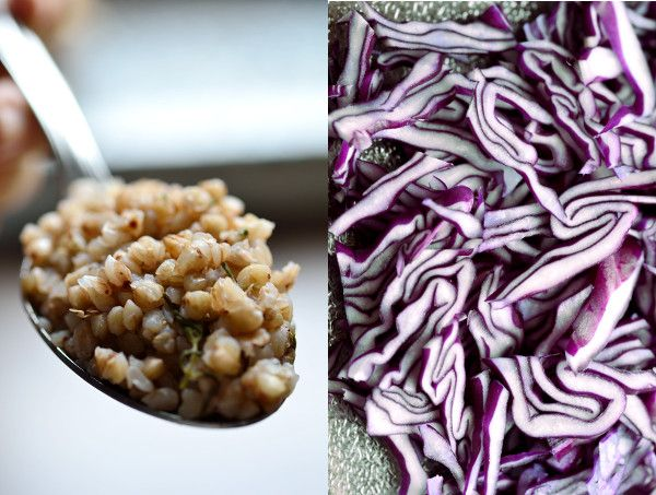 Buckwheat with red cabbage