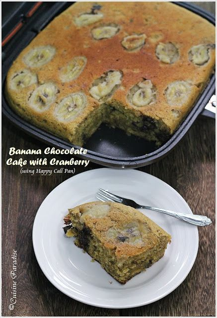 Cuisine Paradise   Singapore Food Blog   Recipes, Reviews And Travel: happycall Banana Chocolate Cake With Cranberry