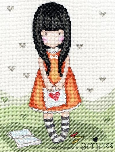 Gorjuss - I Gave You My Heart - Cross Stitch Kit