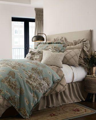 Quot Spa Toile Quot Bed Linens Horchow Bedroom Pinterest