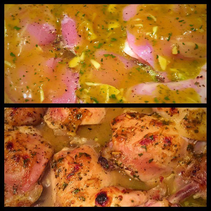 Pollo a la mostaza y miel ingredientes ajo 2 mostaza 2 - Limpiar horno con limon ...