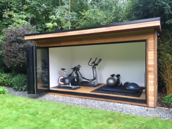 25 best ideas about contemporary garden rooms on for Outdoor office building