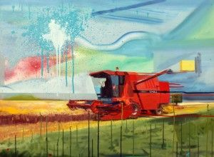 David Utcai | David Utcai is a painter whose works are inspired by his agricultural surrounding in his childhood, war in Balkans and some futuristic visions...