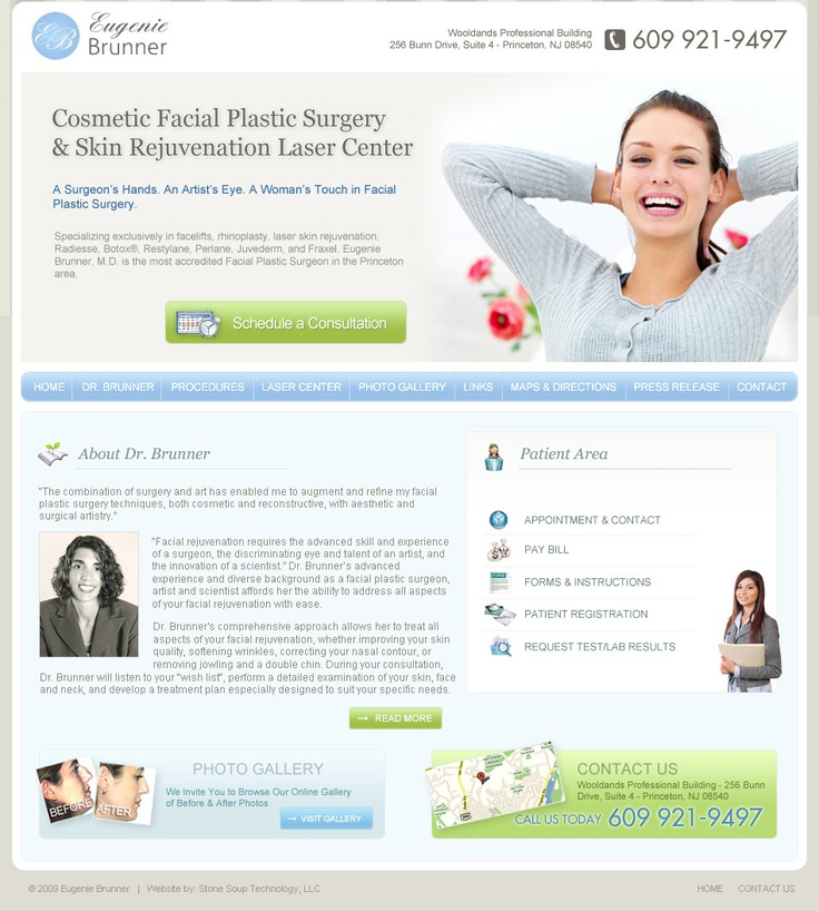 Design proposal for a medical web site.