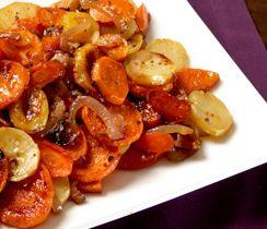 Roasted Harvest Vegetables with Maple Bacon Sea Salt