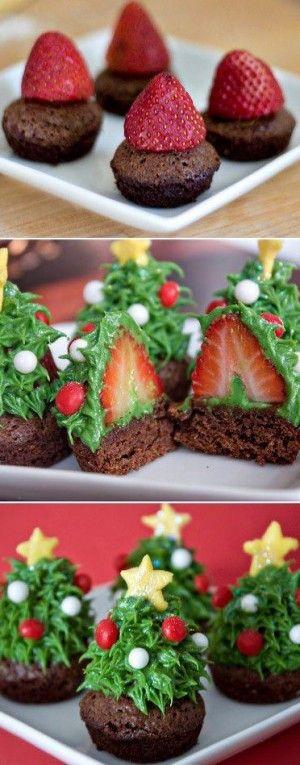 muffins met aardbei en snoepversiering, heerlijk en gezellig!