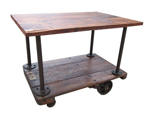 Kitchen Island On Casters Salvage Pinterest Industrial Kitchens And Work Stations