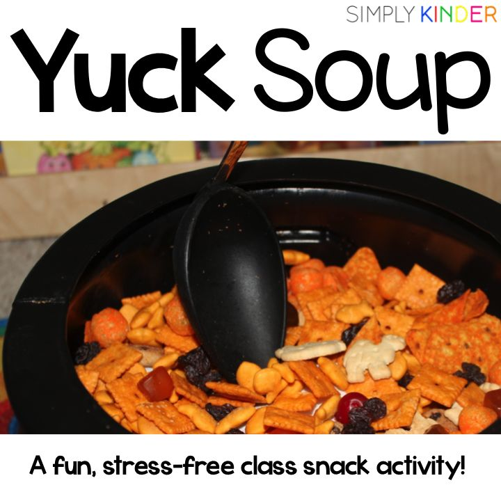Yuck Soup - A Snack Activity Freebie - Simply Kinder