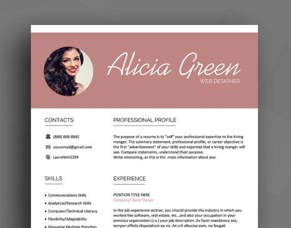 professional resume template cv template cover letter reference list creative resume
