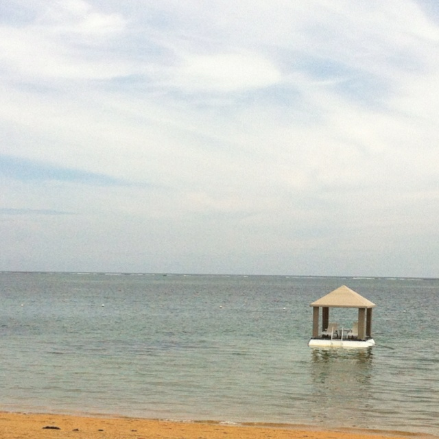 Shadow shelter in the sea, Sanur, Bali