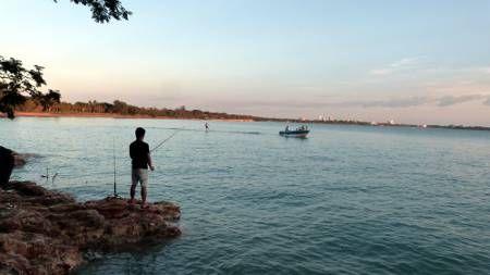 Fishing at Fannie Bay